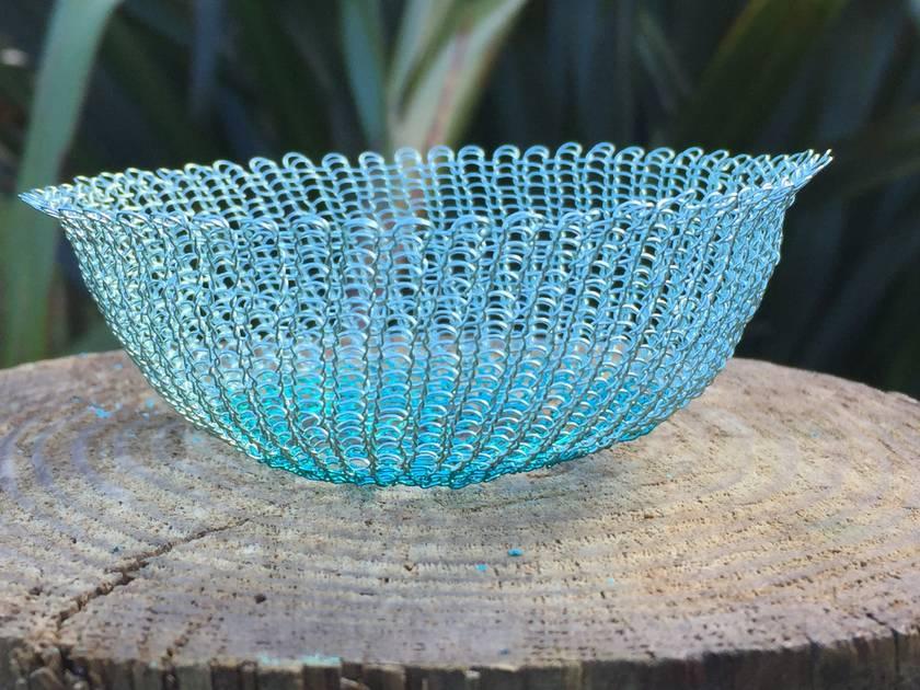 Wire crochet baskets - Bowl