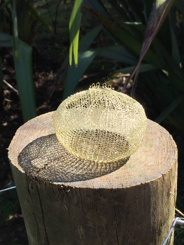 Wire crochet baskets - Round