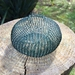 Wire crochet basket - Emerald Green
