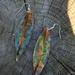 Spring copper leaf earrings