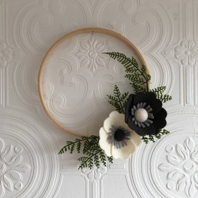MissMollyCoddle Felt Flower Mini Wreath
