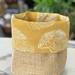 Leaf White on Mustard Planter Sack
