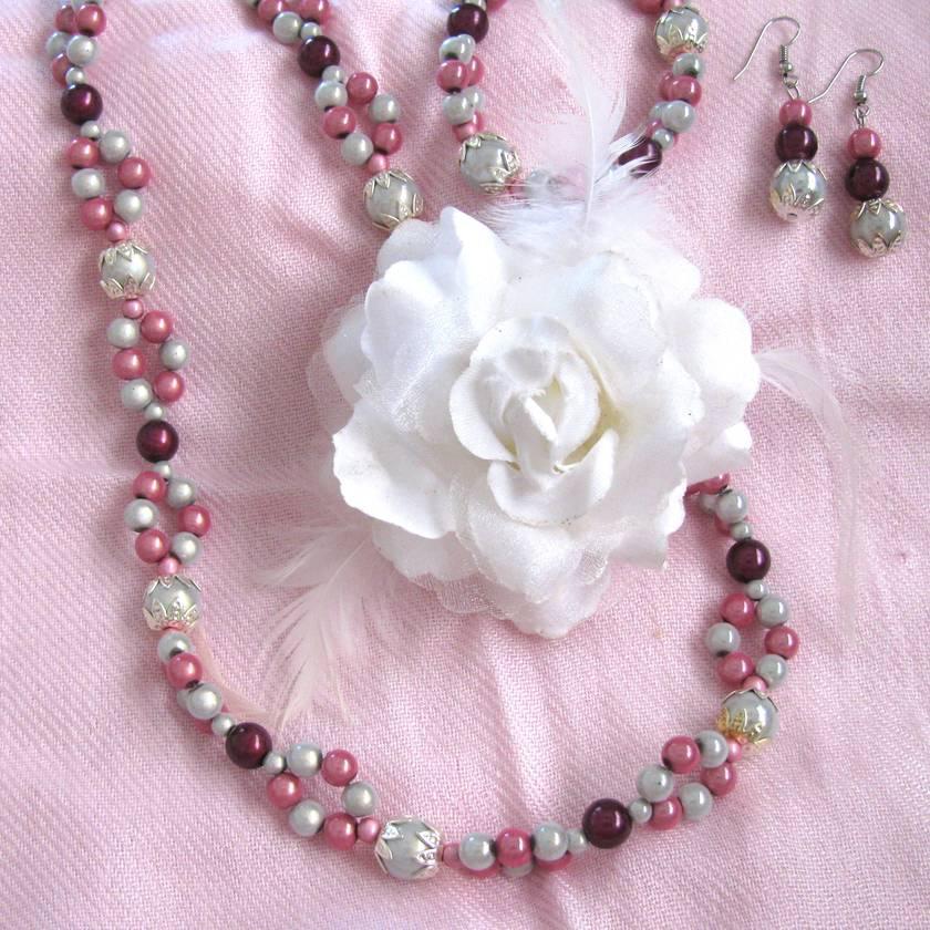 "Bracelet:  Pink ""Bali"" Miracle Bead"