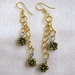 Gold Floral Chain Earrings