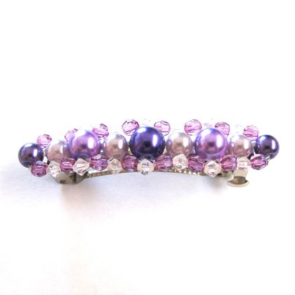 Hair barrette - purple