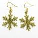 Large Gold Snowflake Earrings