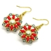 Crystal & Pearl Poinsettia Earrings
