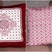 Hand Embroidered Cushion Cover - Burgundy