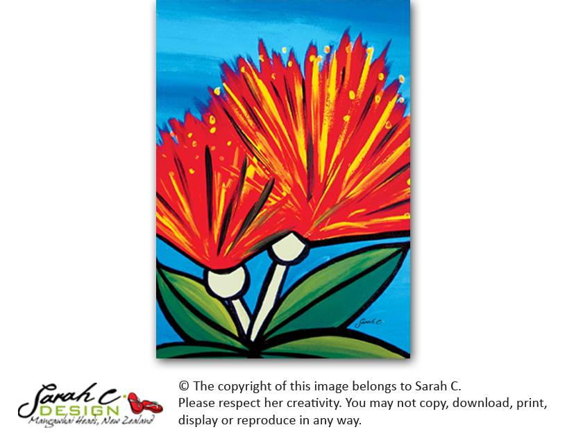 Pohutukawa Flower - Indoor Outdoor Artwork