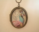 Vintage Peacock Locket - By Redlippy