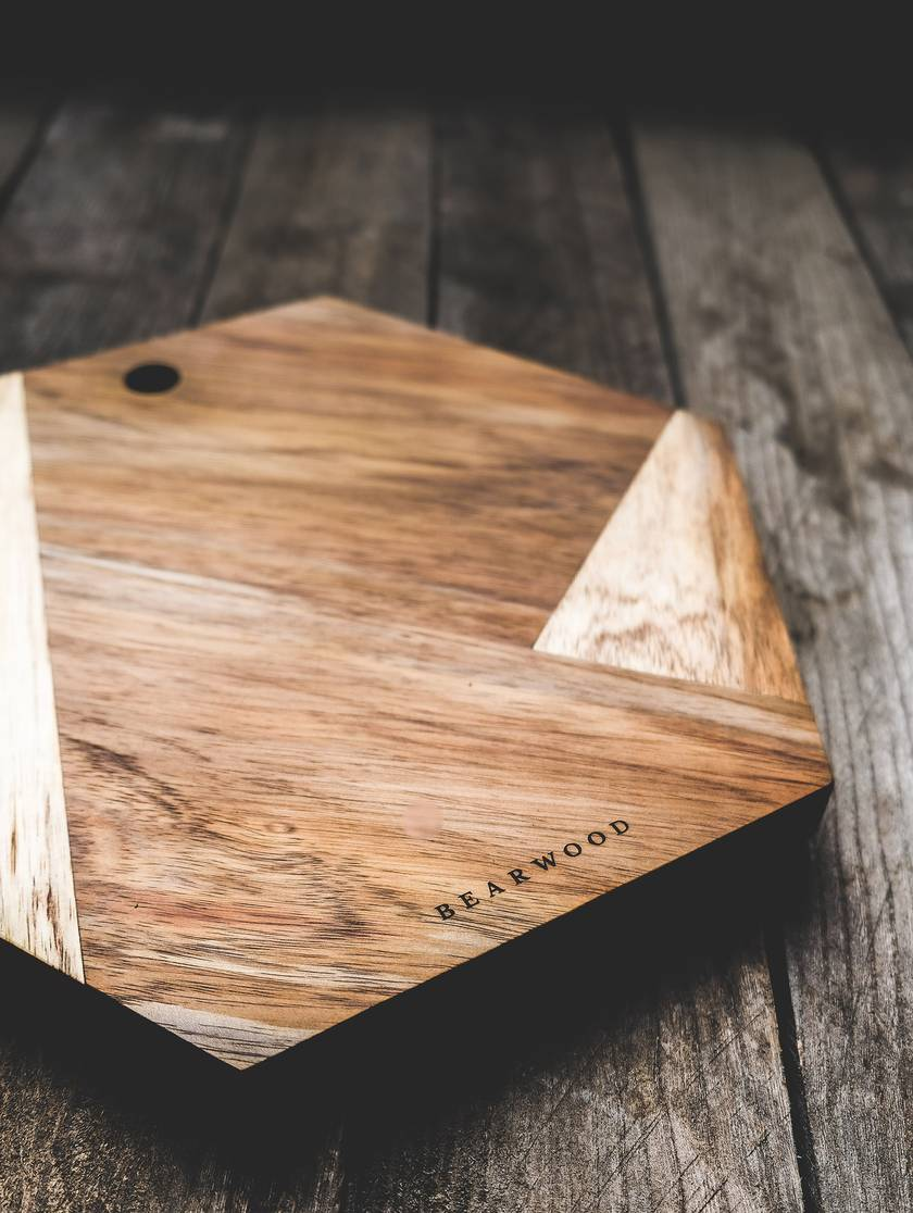 Hexagonal Handmade Chopping & Serving Board