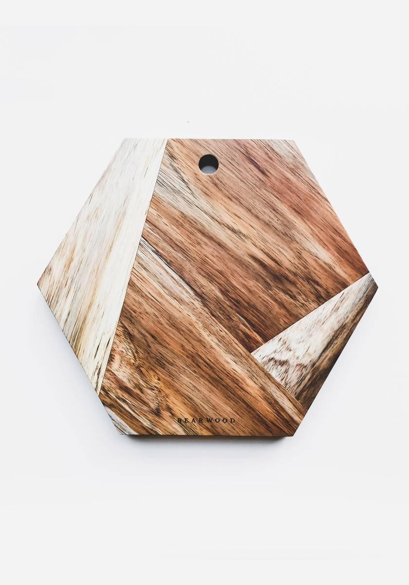 Hexagonal Handmade Chopping & Serving Board