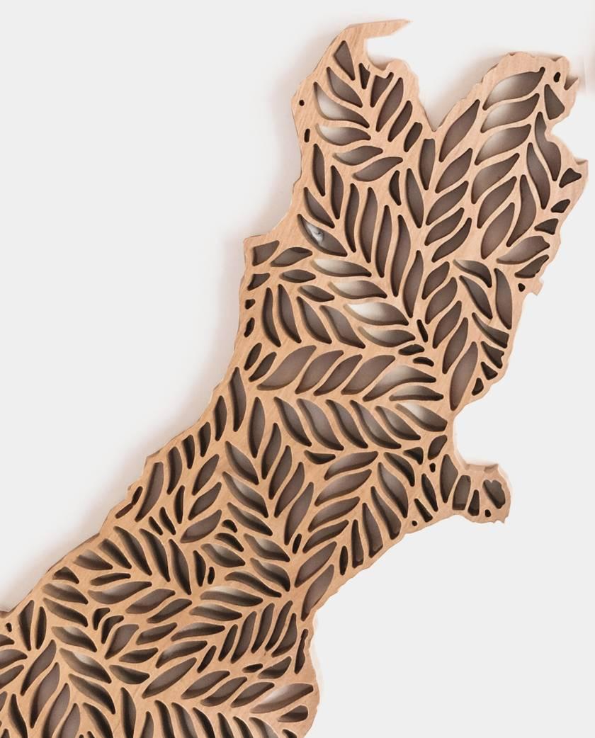 New Zealand Wall Art – Detailed Fern Wood Cut