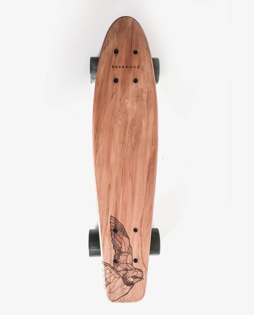 Penny Skateboard Handmade from Recycled Rimu Floorboard