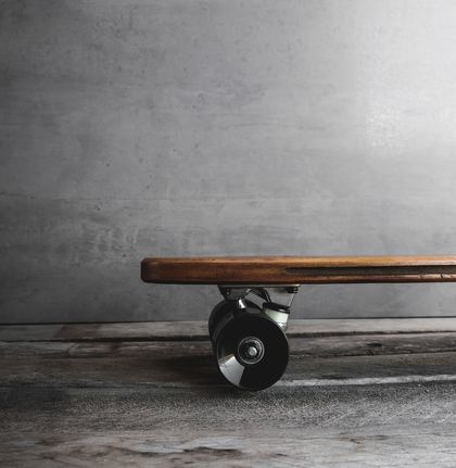 Penny Skateboard Handmade from Recycled Rimu Floorboard