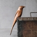 Perching Carved Wooden Bird