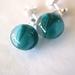 Tsubomi - Bud Inspired Earrings, Turquoise