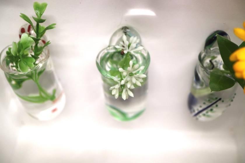 Wall Vase Koru Pattern Green/Turquoise