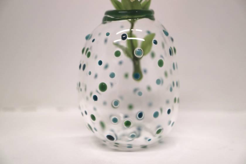 Polka Dot Bud Vase - Blue/Green
