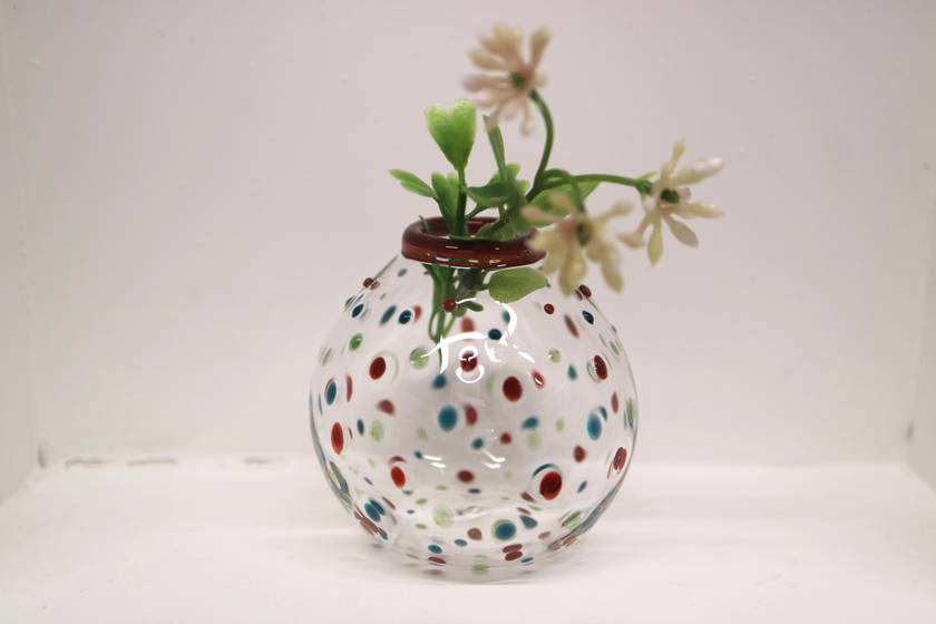 Polka Dot Bud Vase - Multiple Colours