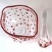 Polka Dot Sugar Bowl with Matching Spoon - Red