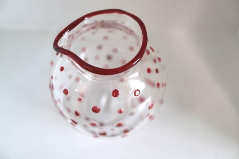 Red Polka Dot Milk Jug - Microwave Safe