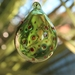 Green Bauble with Red Dots Pattern