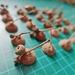 hand picked 50 pieces SINGLE Natural Acorn Caps - Natural real acorns caps, craft supplies