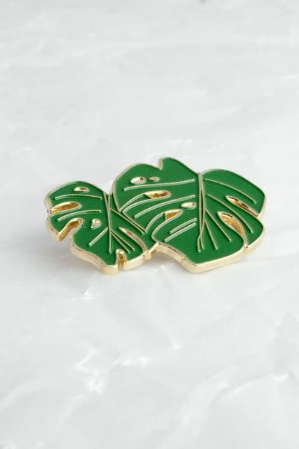 Monstera Leaf Enamel Philanthro-pin