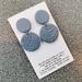 Handmade Clay Embossed Earrings