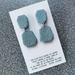 Lace Embossed Clay Drop Earrings