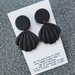Lace Embossed Shell Clay Drop Earrings