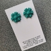 Flower Clay Stud Earrings