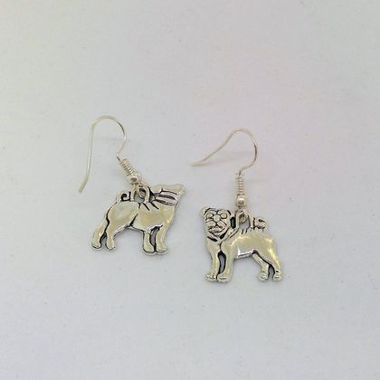 Pugs with the curly tail earrings