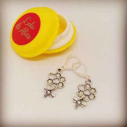Lola & Alice 50% SALE  Bee & Honey Comb Earrings