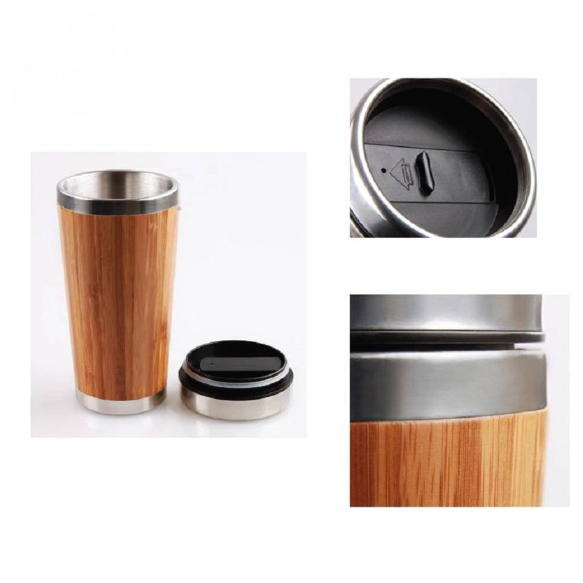 Eco Bamboo Travel Mug - Installing coffee - please wait