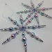 Hand beaded crystal and bead snowflakes - set of two