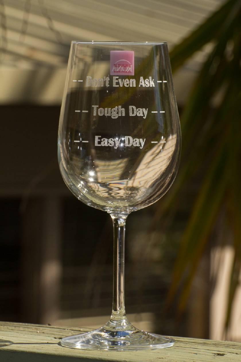 Laser engraved Fun Wine glass