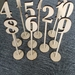 Laser cut table numbers 1-10