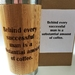 Pre Xmas sale! Eco Bamboo Travel Mug - Behind every successful man is a substantial amount of coffee