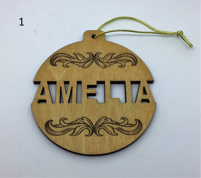Individual cut out wooden personalised Christmas decoration