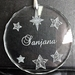 Personalised laser engraved crystal circle ornament