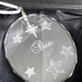 Personalised laser engraved crystal oval ornament