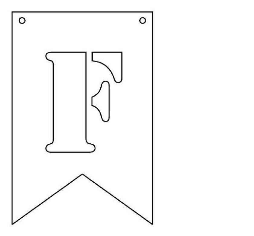 MDF bunting - ready for you to paint or decorate or use as it is! Individual letters available here!