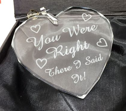 You were right crystal heart sun catcher- ornament