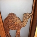 Camel- laser cut and engraved table lamp (electric)