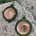 One cent piece fern coin earrings