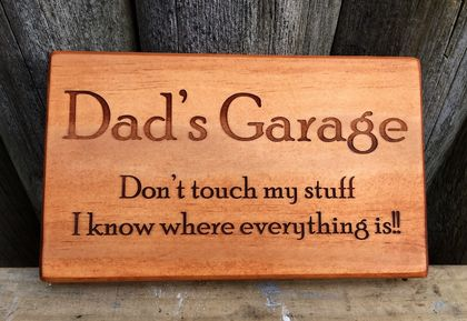 Check out this gift idea - Dad's Garage - can be personalized