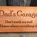 Fathers Day is 6th Sept - check out this gift idea - Dad's Garage - can be personalized