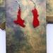 Red acrylic NZ earrings